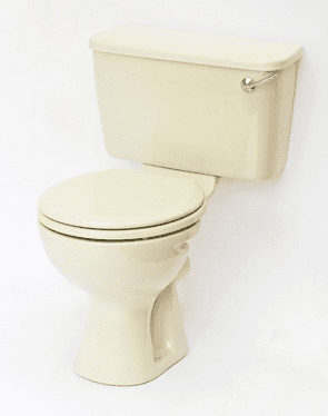 Champagne Toilet Pan and Cistern Close-Coupled
