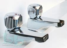 "Classic Retro ceramic disc Chrome plated 3/4"" bath pillar taps"