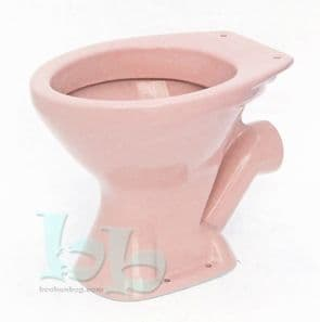Coral Pink Toilet Pan (WC) Low-Level