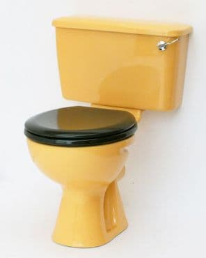 Harvest Gold Toilet Pan and Cistern Close-Coupled