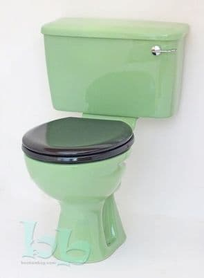 Jade Green Toilet Pan and Cistern Close-Coupled