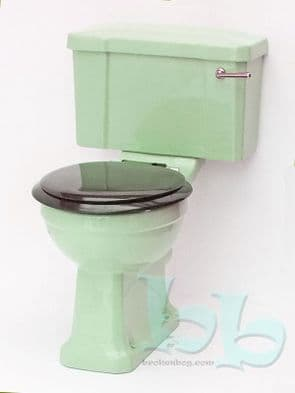 Light Green Edwardian/Art Deco Toilet Pan and Cistern Close-Coupled