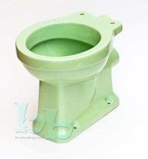 Light Green Edwardian/Art Deco Toilet Pan (WC) Low/High-Level