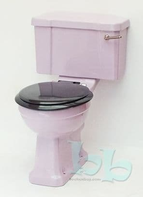 Lilac/Orchid Edwardian/Art Deco Toilet Pan and Cistern Close-Coupled