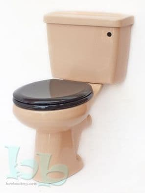 Peach Toilet Pan and Cistern Close-Coupled