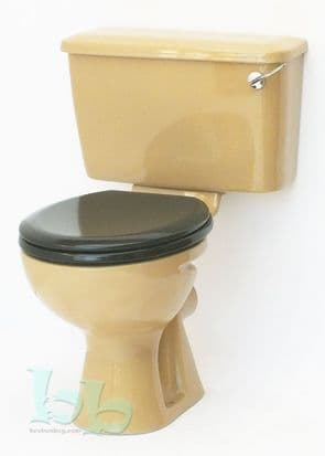 Sandalwood Toilet Pan and Cistern Close-Coupled