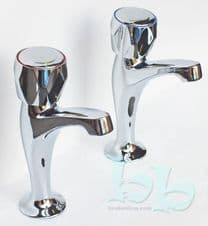 Solo contract high neck Chrome kitchen sink pillar taps