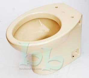 Whisper Apricot Ideal Standard Tulip Toilet Pan (WC) Back-to-Wall