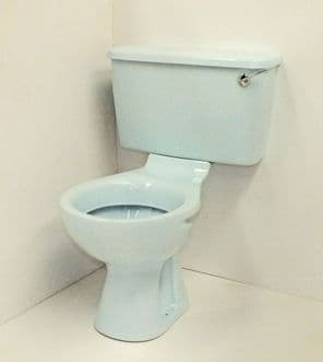 Whisper Blue Toilet Pan and Cistern Close-Coupled