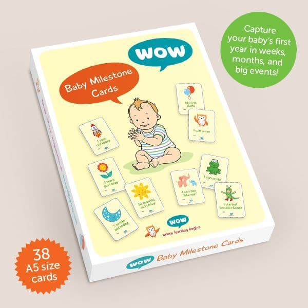 Baby Milestone WOW Photo Cards (40 Cards)
