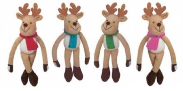 Hanging Reindeer Soft Toys (Supplied at Random)