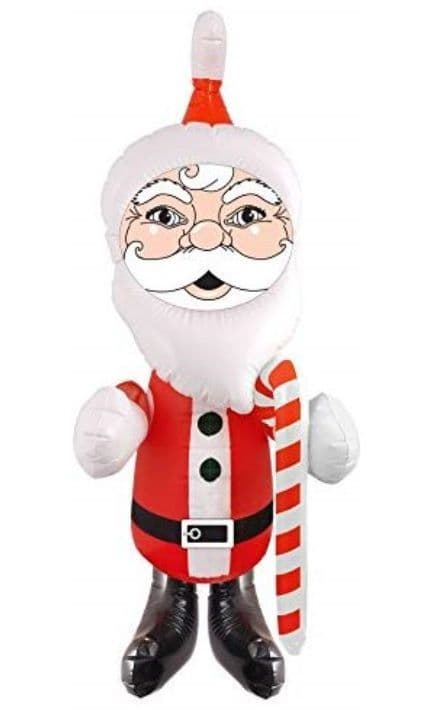 Inflatable Santa with candy cane