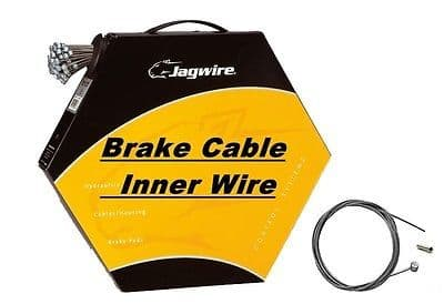 Bulk Box of 100 JAGWIRE Bike Brake Cable Inner Wire Barrel Nipple Galvanised, Stainless, Slick