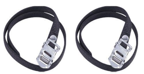 Heavy Duty Premium  Bike Pedal Cycle Toe Straps Black Nylon (Qty rate available)
