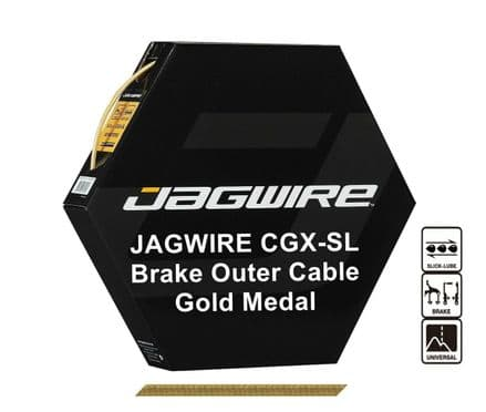 JAGWIRE Gold Braid 5mm Bike Brake Outer Cable Housing CGX-SL Pre Lubricated