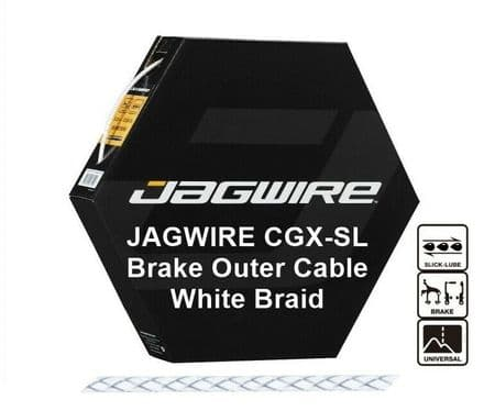 JAGWIRE White Braid 5mm Bike Brake Outer Cable Housing CGX-SL Pre Lubricated