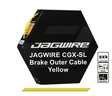 JAGWIRE Yellow 5mm Bike Brake Outer Cable Housing CGX-SL Pre Lubricated