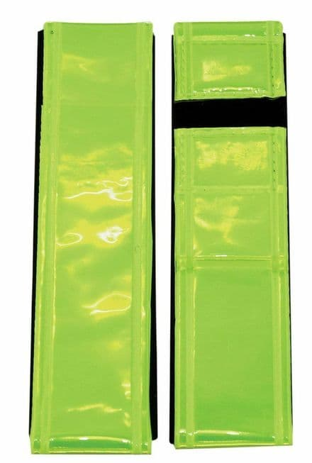 Pair of ETC Hi Viz Reflective Ankle / Arm Bands / Cycle / Running Trouser Clips - 193140194269