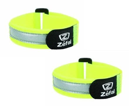 Pair of Zefal Doowah Hi Viz Reflective Ankle / Arm Bands / Cycle Trouser Clips