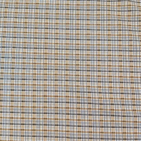 Check Print -Dress Craft Cotton Fabric  - Two shades of brown