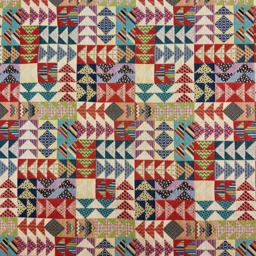 Tapestry Fabric - Curtains Upholstery Cotton Mix - Arrow Head