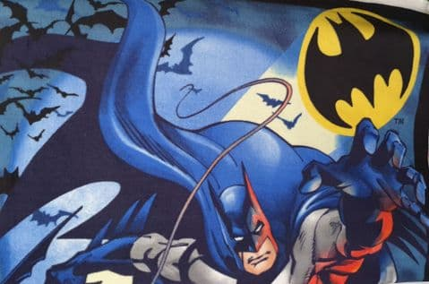 Batman Fleece Polyester Fabric  - Blue