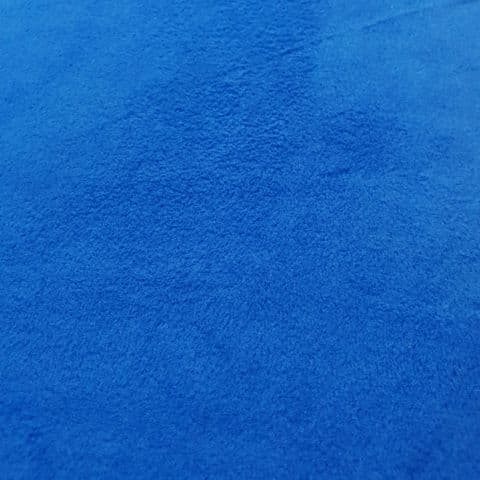Plain Fleece Polyester Fabric  - Bright Blue