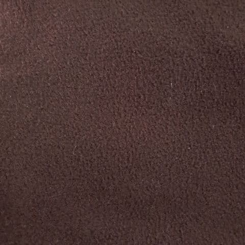 Plain Fleece Polyester Fabric  - Brown