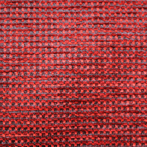 Polyester & Cotton Mix Upholstery Fabric - Red Woven Checks