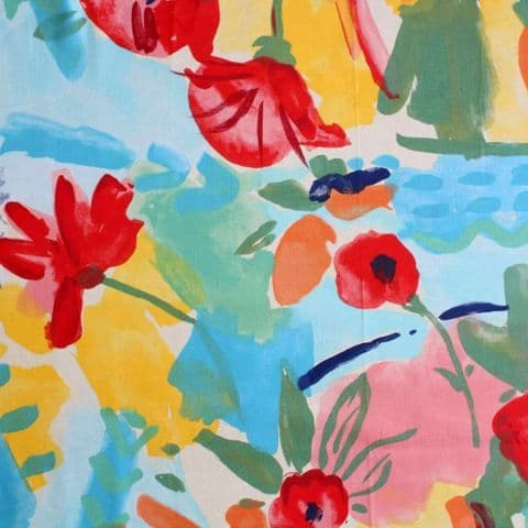 Summer Watercolor - Curtain Soft Furnishings - Cotton Fabric