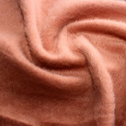 Wool Mix 'Mohair Like' Dress Fabric - Terracotta