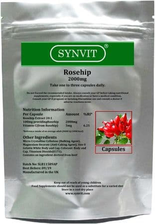SYNVIT® Rosehip 2000mg  x 60 Capsules