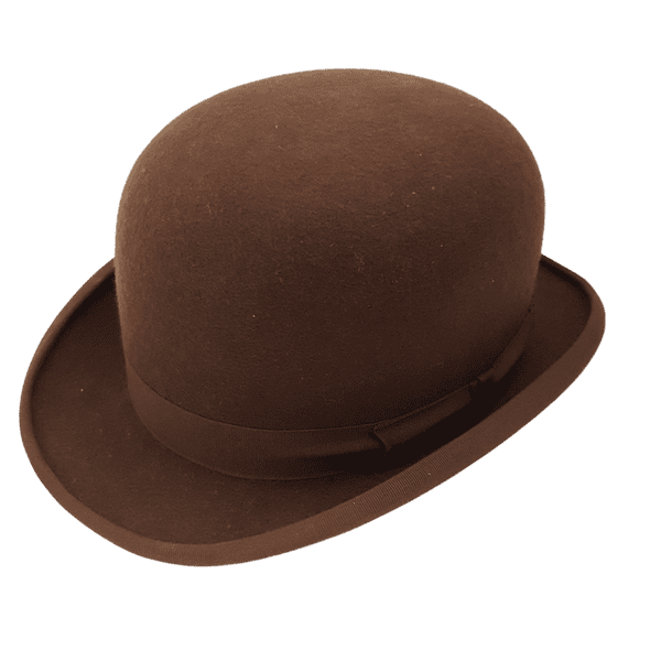 Brown Wool Felt Bowler Hat with Hunting Pad - Christys