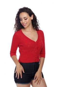 Red Heart Cardigan