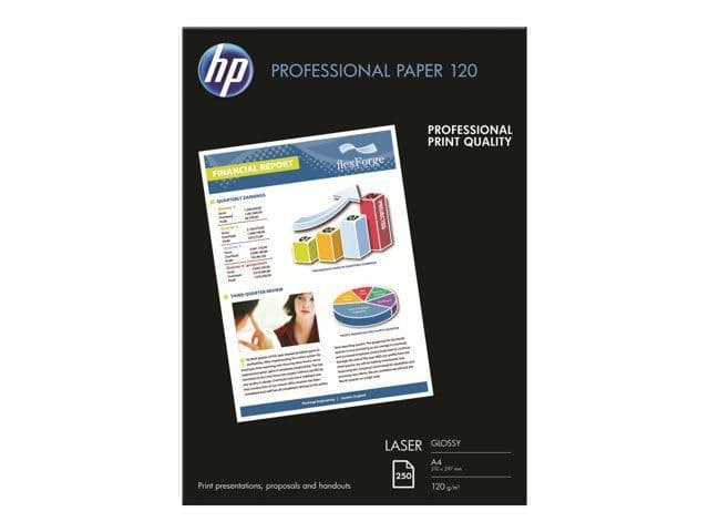 HP A4 120gsm Professional Glossy Laser Photo Paper 250 Sheets