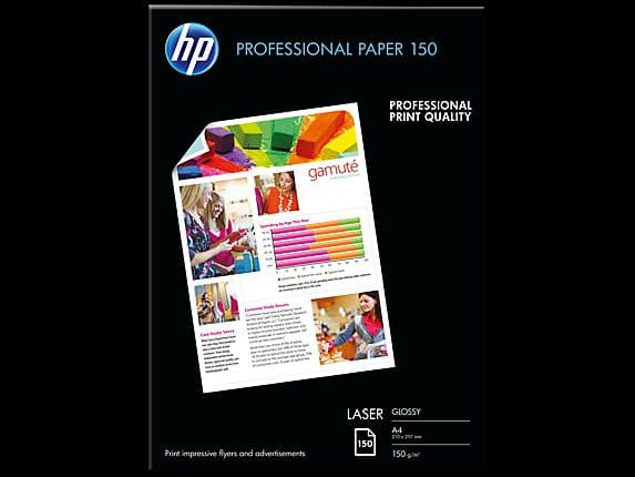 HP A4 150gsm Professional Glossy Laser Photo Paper 150 Sheets