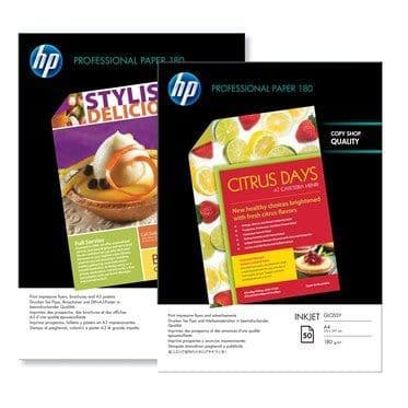 HP A4 180gsm Professional Glossy Inkjet Photo Paper 50 Sheets