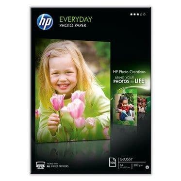 HP A4 200gsm Everyday Glossy Inkjet Photo Paper 100 Sheets