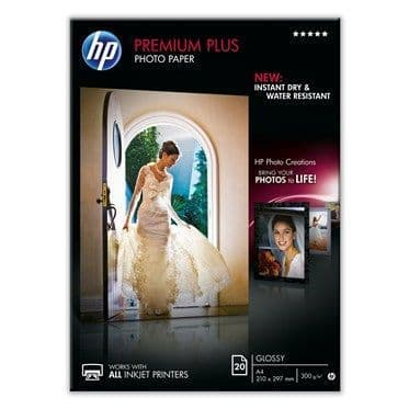 HP A4 300gsm Premium Plus Glossy Inkjet Photo Paper 20 Sheets
