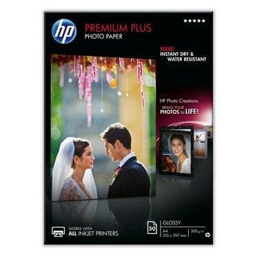 HP A4 300gsm Premium Plus Glossy Inkjet Photo Paper 50 Sheets