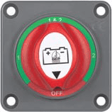 BEP 701S-PM PANEL MOUNTED BATTERY SWITCH 200A 1-2-BOTH OFF.  Incl. VAT