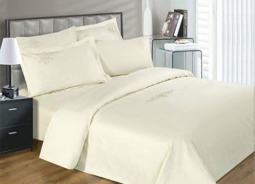 330 THREAD GROSVENOR SCROLL CREAM ELEGANT LUXURY EGYPTIAN COTTON SUPERIOR QUALITY 5* HOTEL BEDDING
