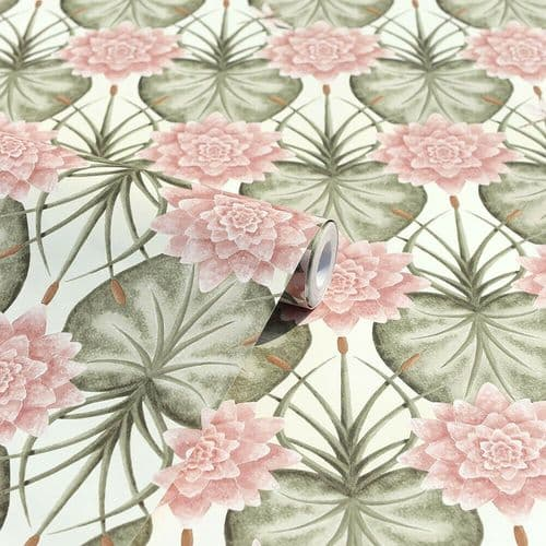 Angel Strawbridge Chateau Lily Garden Cream Wallpaper