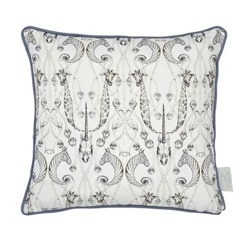 Angel Strawbridge Le Chateau Des Animaux Natural Grey Complete Filled Cushion 43cm x 43cm