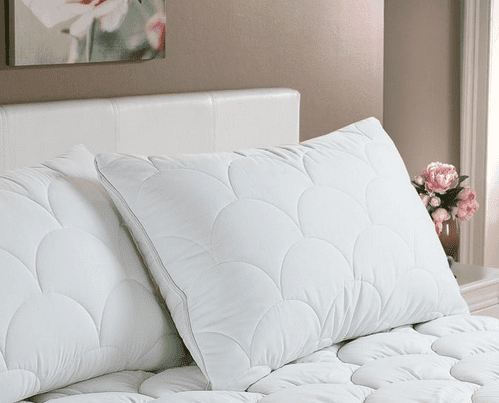 Anti Allergy Quilted Cloud Pair of Pillow Protectors Covers Hotel Quality