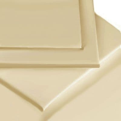 BEIGE COLOUR PERCALE MATTRESS FLAT SHEET