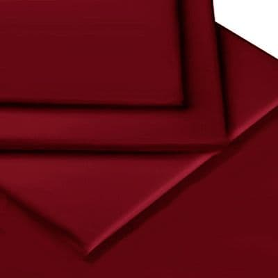 BURGUNDY COLOUR PERCALE MATTRESS FITTED SHEET