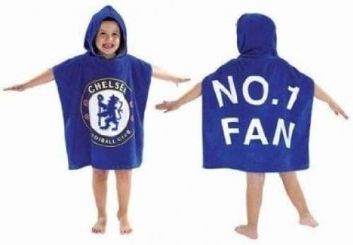 Chelsea FC Football Club Official Kids Hooded Poncho Towel