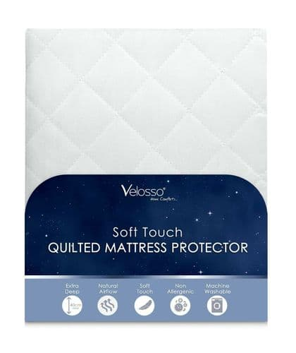 Extra Deep Anti Allergy Fitted Mattress Protector Topper Quilted King Size