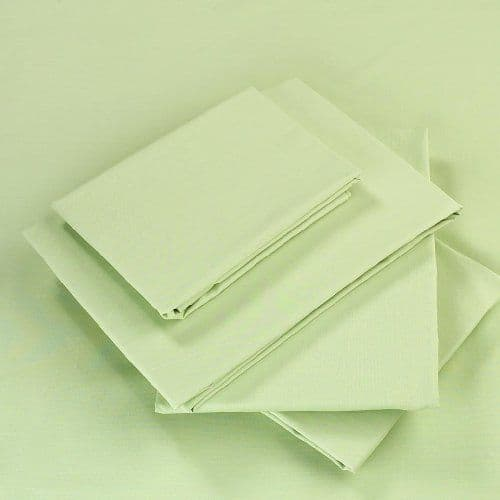 GREEN COLOUR PERCALE MATTRESS FLAT SHEET
